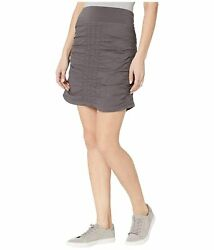 Wearables Womens Skirt Gray Size Xl Straight Ruched Pull-on Solid 56 021
