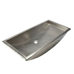 Native Trails Cps500 Copper 30 Trough Style Bathroom Sink For - Nickel