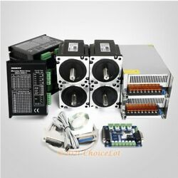 4 Axis Controller Kit Nema34 6.8n.m Motor And Engmate Digital Stepper Driver
