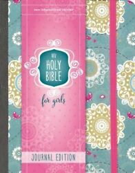Niv, Holy Bible For Girls, Journal Edition, Hardcover, Teal/gold, Elastic New