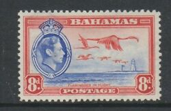 Bahamas - 1938, 8d Blue And Red, Greater Flamingo Bird Stamp - M/m - Sg 160