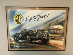 """Mg Series """"t.f"""" Safety Fast 1953 Advertising Poster"""