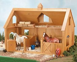 Breyer Traditional Deluxe Wood Horse Barn With Cupola Toy Model, 30.5l X 21h