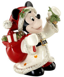Lenox Disney Lighted Merry Mickey Mouse Christmas Figure New In Box