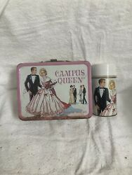 Campus Queen Collectible Metal Lunch Box With Thermos Circa 1967
