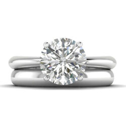 1ct H-si1 Diamond 4-prong Engagement Ring 950 Platinum Any Size