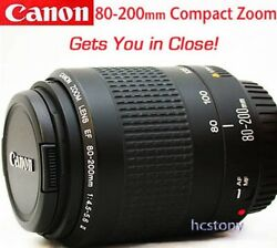 Canon Eos Ef 80-200mm Af Compact Telephoto Zoom Lensfilmdigital Slr Excellent
