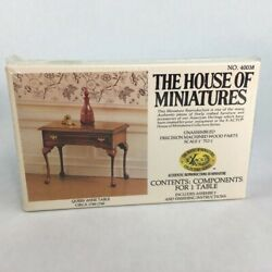 The House Of Miniatures Dollhouse Furniture Kit Queen Anne Table Antique Replica