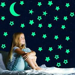 Glow in The Dark Stars StickersGlowing Stars for Ceiling and Wall3D Wall