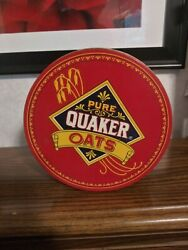 Vintage 1983 Limited Edition Quaker Oats Collector Tin Round Canister Cookie Tin