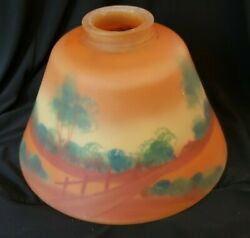 Antique Reverse Painted Arts Crafts Small 8 Lamp Shade