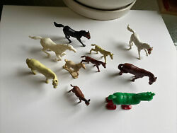 Vintage Mpc 1960's Horses Toy Farm Western Ranch Lot Animals Herd