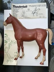 Vintage 1965 Marx Toys, Thunderbolt Johnny West Horse Manual And Access