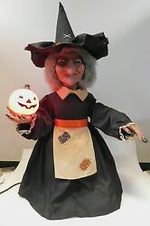Vintage 1987 Telco Motion-ette Witch 24 Htf Halloween Animated Prop