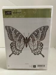 Used Stampinand039 Up Swallowtail Clear Mount Stamp Xl Butterfly Background