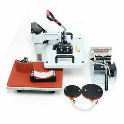 5 In 1 Heat Press Combo Machine 2938cm Transfer Sublimation Kit For T-shirts