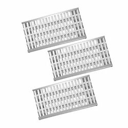 Stainless Steel Grill Heat Plates Shield Burner Cover Tent Flame Tamer, 18 3