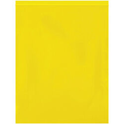 Resealable Poly Bag 12 X 15 10000 Pack 2 Mil Yellow Reclosable Bags