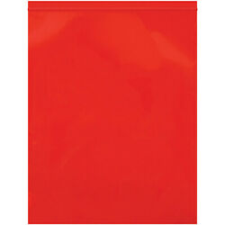 Resealable Poly Bag 12 X 15 10000 Pack 2 Mil Red Reclosable Bags