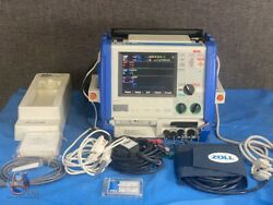 Zoll M Series Cct 12 Lead Ecg Nibp Spo2 Etco2 Ibp Case Paddles Charger Battery