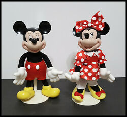 Franklin Mint Disney Mickey And Minnie Mouse Heirloom Porcelain Dolls 12 Tall
