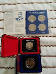 Antique Silver Coin Collection Manitoba Canada. Rare Mint Lot Of 3.