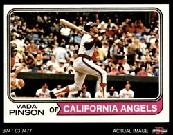 1974 Topps 490 Vada Pinson Angels 8 - Nm/mt