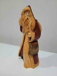 Vintage Signed Pauline Connors 1988 Hand Carved Hand Painted Wood Santa Claus Wi