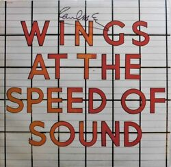 Paul Mccartney Signed Autographed Wings At The Speed Of Sound Album Caiazzo Loa
