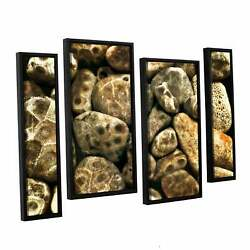 Artwall Kevin Calkins ' Petoskey Stone Collage 4 Piece Extra Large