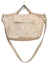 Latico Leathers Colin Cracked White Authentic Leather Handcrafted Handbag Tote