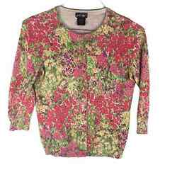 Vintage Lord And Taylor Cotton Floral Sweaandhellip