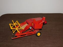 Vintage Toy 11 Long Reuhl Products Massey Harris Red Metal Clipper Combine