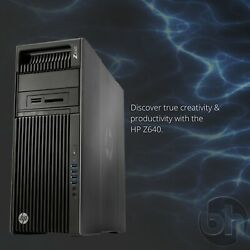 Hp Z640 Puissant Station 2x Xeon 18-core/3.20ghz 128gb Ddr4ssd And Win 10