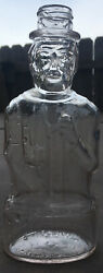 Vintage Glass Lincoln Coin Savings Bank Bottle Lawrence Mass