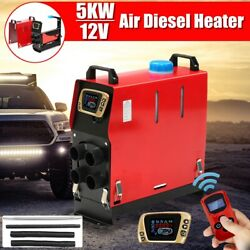 12v 5kw Air Heater 4 Holes Lcd Dynamic Thermostat Switch Remote Truck Trailer