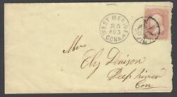 Devil And Pitchfork Of West Meriden Ct. On 1866 Cover Aug. 20, With 2019 Pf Cert