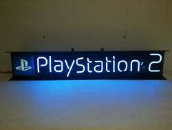 2001 Official Sony Playstation 2 Ps2 Promotional Promo Neon Store Sign Everbrite