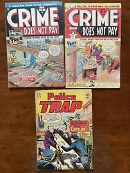 Golden Age Crime Does Not Pay 69 And 79 1948-49 Charles Biro And Police Trap 12