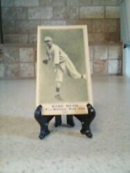 1915 Babe Ruth Aged Rookie 115 Signed On Back With Antique Style Easel Display