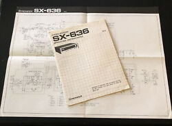 1975 Pioneer Sx-636 Receiver Operating Instructions Manual + Schematic Drawing