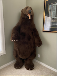 Life Size Realistic 6ft4in Stuffed Bear