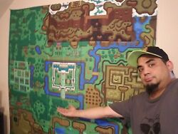 Huge Zelda A Link To The Past World Map - 5 X 5 Foot Tapestry - Game Room
