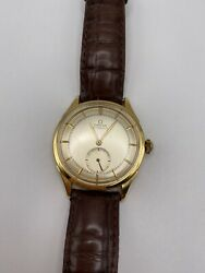 Vintage Omega Automatic Solid 18k Gold Wristwatch