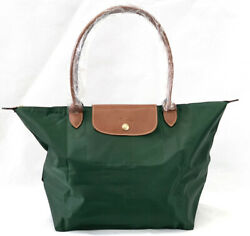 New Longchamp Le Pliage Classic Tote Bag L Green 1899 Made In France