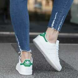 New Adidas Stan Smith B24105 White Green Womens Athletic Tennis Shoes
