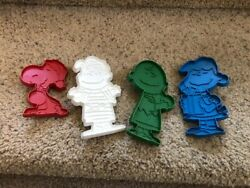 Peanuts Gang Cookie Cutters Charlie Brown Snoopy Linus Lucy Plastic Christmas