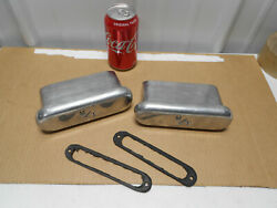 Real 1960s Micky Thompson 6 3/4 Aluminum Valve Cover Breathers M/t Flat Mount