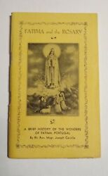 1959 Fatima And The Rosary Prayer Booklet And History Of Fatima