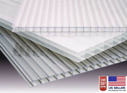 Pack Of 8 Panels 24and039and039 X 72and039and039 X 10 Mm 3/8 Twinwall Clear Sheets
